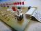 The toaster oven's circuit board with the switch, or SW15, soldered on. Image from Peter Mui