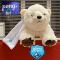 DaAnalytics taking Snowflake SnowPro Core exams in the Pong office wit polar bear support