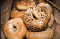 A bag of bagels.