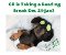Dauchshund lays in bed with cucumbers on its eyes. Text says Reading break December 21—January 4 see you in 2021.
