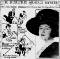 A newspaper clipping with a photo of Dorothy Arnold and a description that she was prominent in New York society, met disappointment as an authoress, and was last seen shopping on fifth avenue.