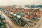 Large container shipping port