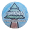 A circular badge with the drawing of a sequoia tree with a blue sky background. It reads, Sequoia, our community's choice.