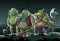 Some very ugly goblins preparing to attack.