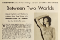 """Clipping of a movie magazine article on Anna May Wong titled """"Between Two Worlds"""""""