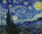 The starry night van gogh original painting value