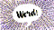 """An image of the word """"word"""" in a conversation bubble"""