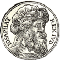 Coin-like image, black and white, incribed Iosaphat Rex Iud(ea)