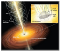 An artist's conception of radiation jets produced by an accreting black hole.