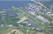 Aerial view of airport.