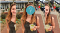 Image is of Zulie Rane outside holding a drink. It repeats three times; the middle image has a question mark over her face.