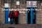Entrance turnstiles to a football ground