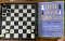 chess set and book for studying