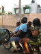 Family of 4 on a single motorbike in Togo.