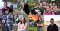 A collage of seven young people in different outside settings