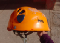 Petzl helmet with 2 dents after the rock fell