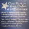 A quote about how one person can make a difference.