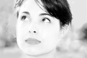 woman in black and white - to illustrate autism article re black and white thinking styles