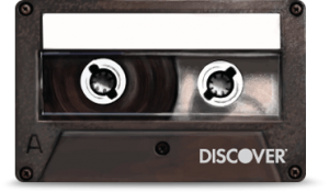 Discover IT old school cassette tape card