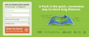 U-Pack is teh quick, convenient wat to move long distance.