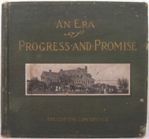Image of the cover of the 1910 book An Era of Progress and Promise