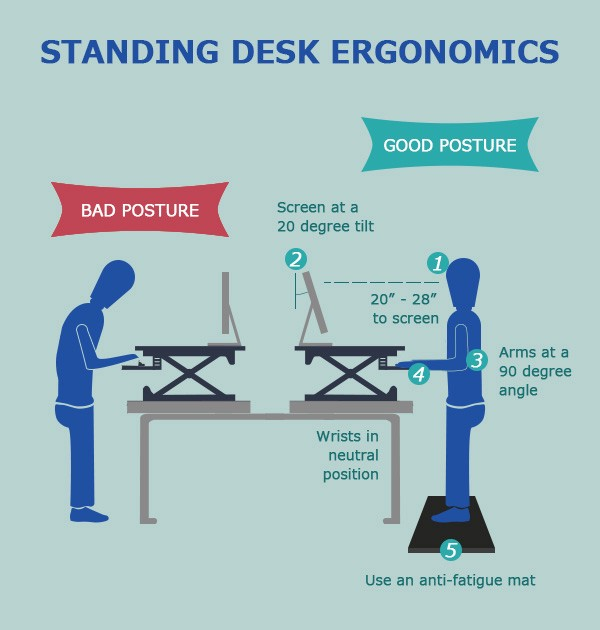 Standing Desk Ergonomics: How to Avoid Muscle Fatigue