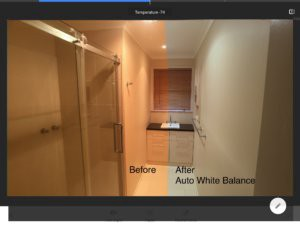 Auto white balance using free mobile photo editing app Snapseed by google