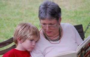 Image illustrating article showing the grandparent of autistic child ASD ASC.