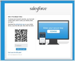 Time based tokens — More secure authentication for your Salesforce org