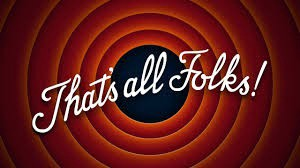 """The """"That's all Folks!"""" image that ends many classic cartoons."""