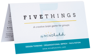 Five Things improv card game