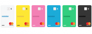 color choices for Venmo Debit Card