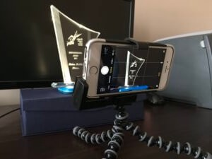 Set up for capturing a trophy on a phone