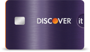 plum colored Discover IT card