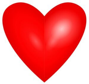 Graphic of a Valentine's Day heart.