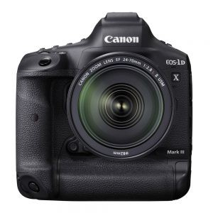 Canon EOS 1DX MARK III Front with 24-70mm lens