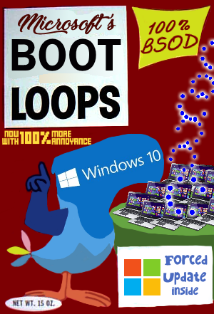 """A parody of a Froot Loops box, titled """"Boot Loops""""."""