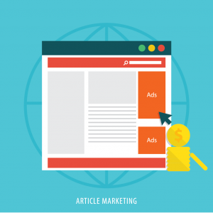 blog page layout with advertising blocks