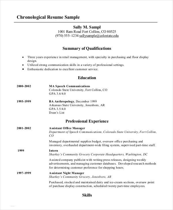 Different Types Of Resume Formats With Examples Jitendra Kumar Medium