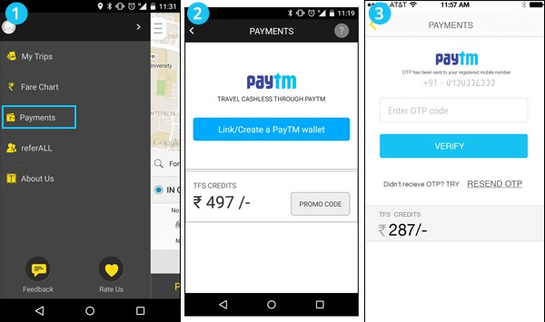 All about Paytm Wallet on TaxiForSure App - Paytm Blog