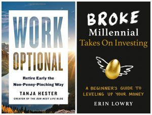 Word Optional and Broke Millennial Takes on Investing book covers