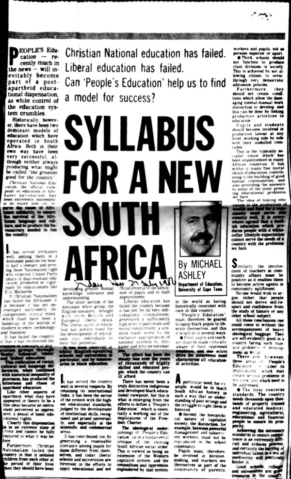 education system in south africa pdf