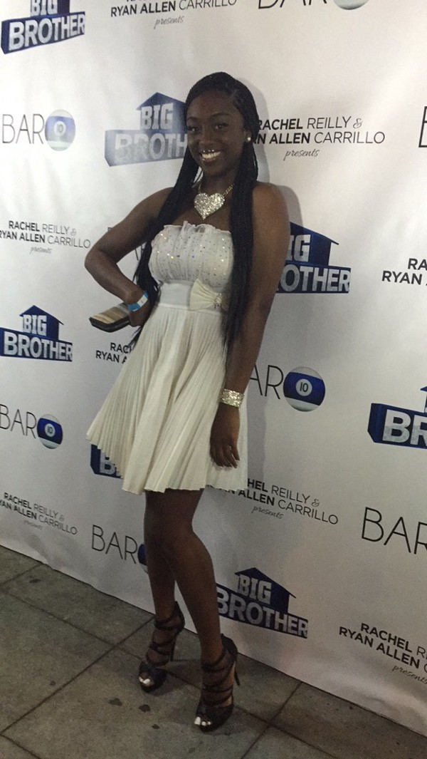 "Da'Vonne Rogers, ""Big Brother 17"" houseguest, at the season wrap party (Neon Tommy/Dustin Sloane)."