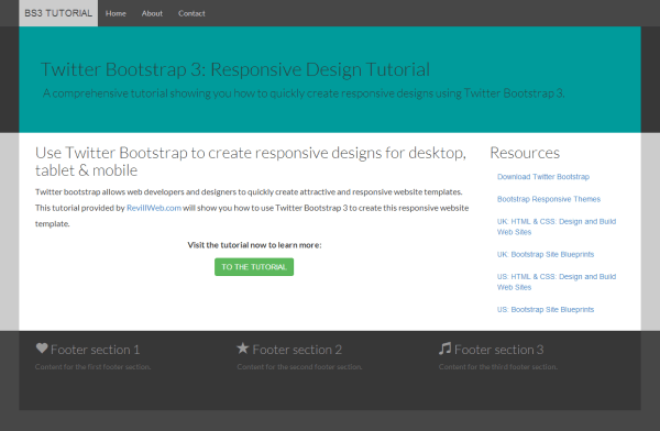 Bootstrap tutorial — A responsive design tutorial with