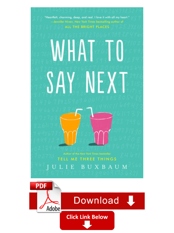 Ebook What To Say Next By Julie Buxbaum By Michelle Waters Medium