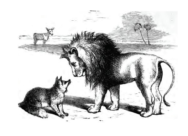 THE ASS, THE FOX, AND THE LION