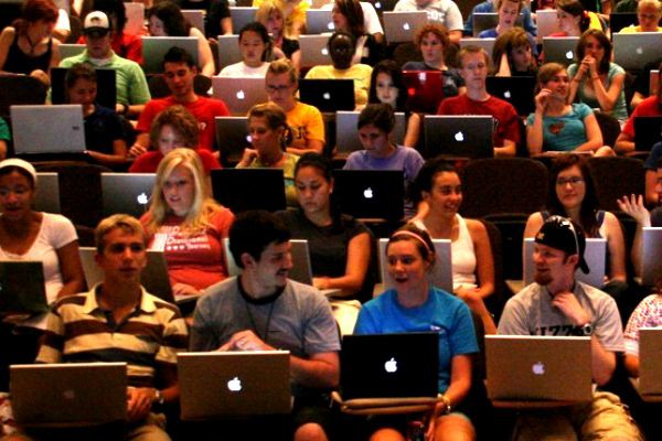 No laptops in the lecture hall