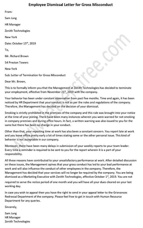 Sample Termination Letter For Misconduct from miro.medium.com
