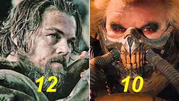 The Revenant and Mad Max lead nominations for Oscars