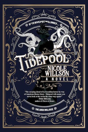 Cover of Tidepool, Nicole's debut novel coming from Parliament House Press in 2021. Cover design by Shayne Leighton.